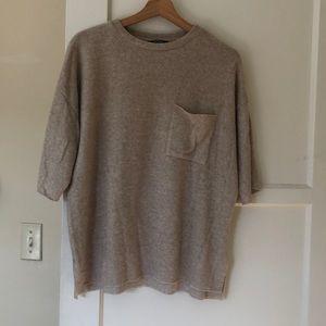 Zara Oversized half sleeve sweater